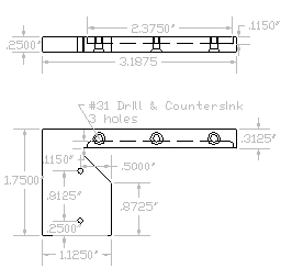 Dimensioned Carriage Plate