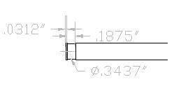 Dimensioned Drive Rod