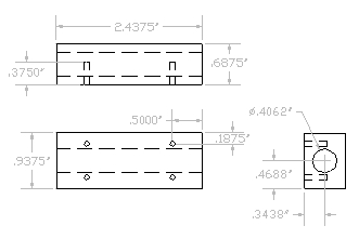 Dimensioned Guide Block