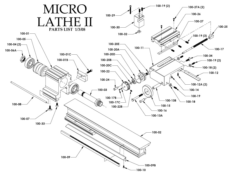 taig lathe parts price list