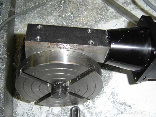 rotary table underside